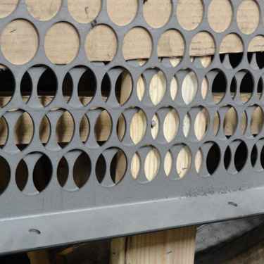 perforated screen, perforated metal screen